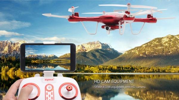 SYMA X5UW PRO - WIFI-HD kamera + barometr + 28 minut letu