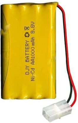 Baterie Ni-Cd 800 mAh 9.6V